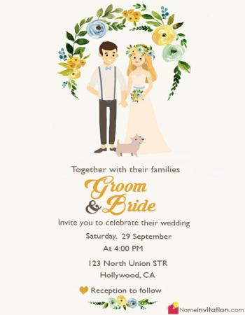 Beautiful Wedding Invitation Card Writing With Name
