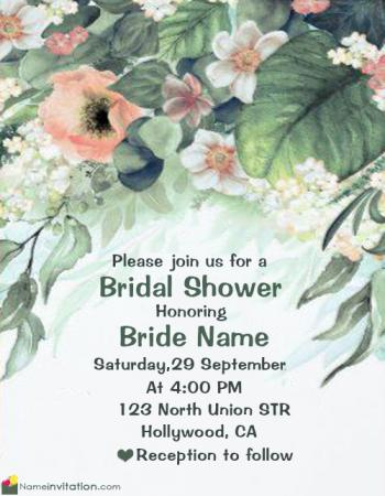 Best Bridal Shower Invitations With Name Editor Online