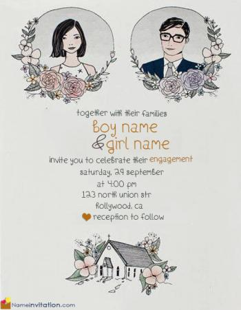 Best Engagement Invitation Card With Name And Photo