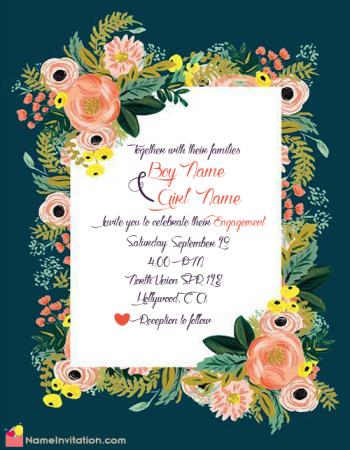 Best Online Indian Engagement Invitation Card Maker Free