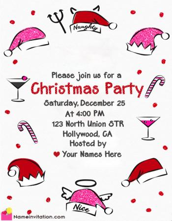 Create Free Customizable Christmas Invitation Templates Online