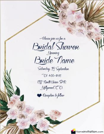 Create Invitation Card For Bridal Shower Online Free