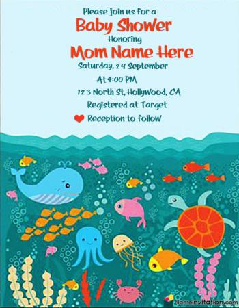 Free Editable Baby Shower Invitation Templates With Name