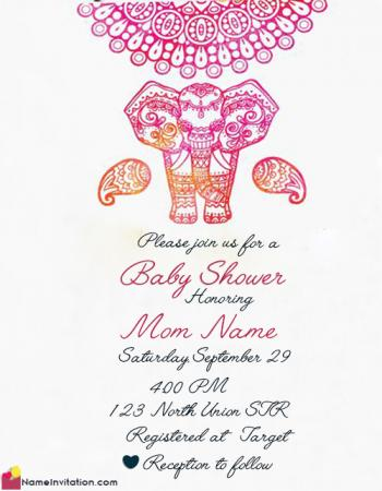 Free Indian Baby Shower Invitation Message With Name