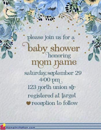 Free Online Baby Shower Invitation Maker With Name