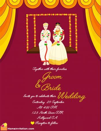 Free Online Indian Wedding Card Name Editing