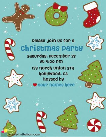 Free Printable Christmas Party Invitations With Name Online