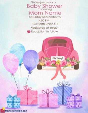 Indian Baby Shower Invitations Templates Editable Free Online
