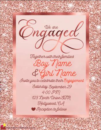 Indian Engagement Invitation Card With Name Editing Free Online