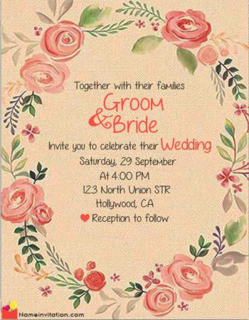 Muslim Wedding Invitation Card Maker Online Free With Name