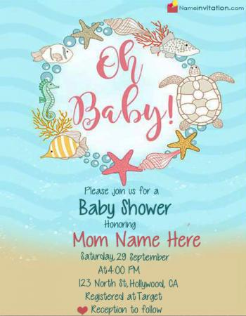 Unique Boy Baby Shower Invitations With Name Edit