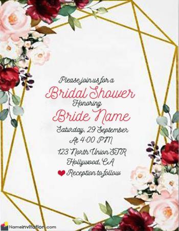 Virtual Bridal Shower Invitation Wording With Name Edit