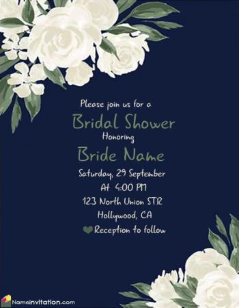 Best Bridal Shower Invitation Card Maker Online