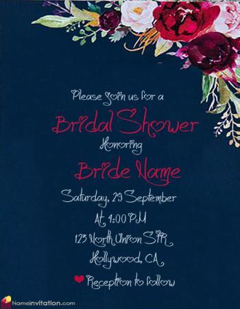 Best Online Bridal Shower Invitations Free Download