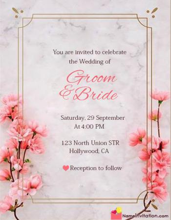 Best Wedding Invitation Card With Name Editing
