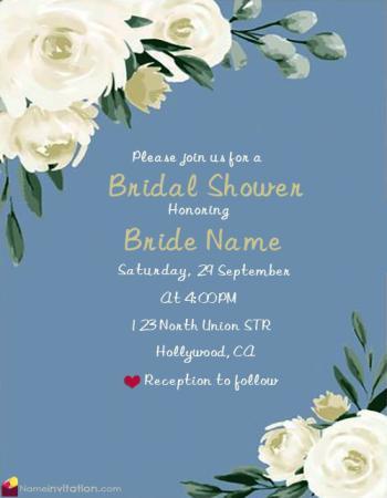Bridal Shower Invitations Online Free Printable