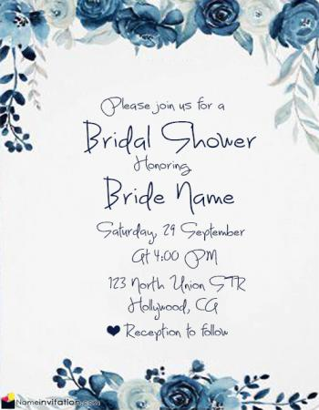 Create Bridal Shower Invitations Online Free With Name