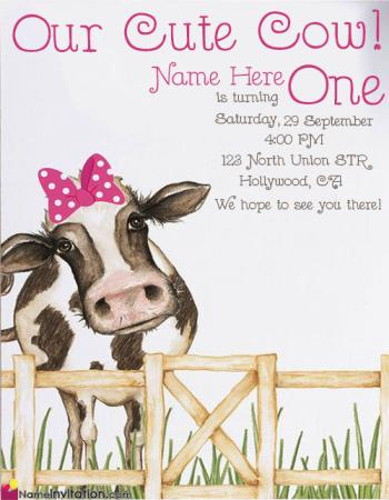 Cute Birthday Invitation Card Images With Name Editor