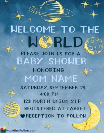 Cute Indian Baby Shower Invitation Card Template Free Download
