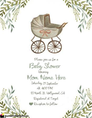 Drive By Baby Shower Invitations Free With Name