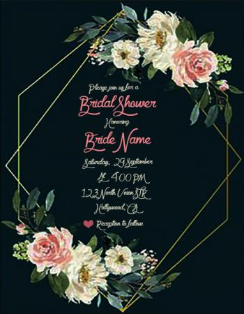 Free Download Cheap Bridal Shower Invitations With Name