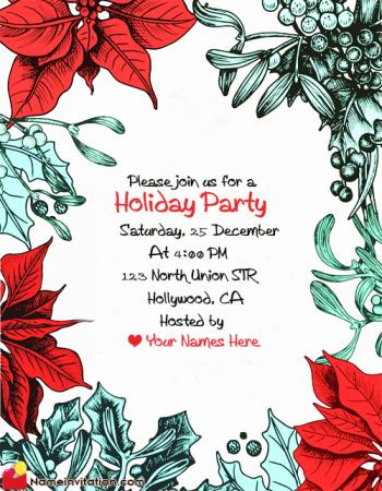 Free Holiday Party Invitation Templates Word With Name