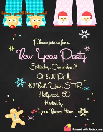 New Year Party Invitation Wording Funny With Name