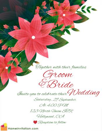 Online Editable Wedding Invitation Cards With Name Maker