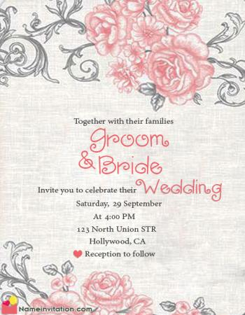Online Wedding Invitation Card Maker Free Download With Name