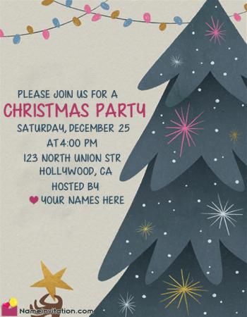 Save The Date Christmas Party Template Free Download