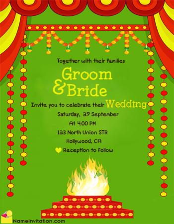 Traditional Indian Online Wedding Invitation Card Maker Free