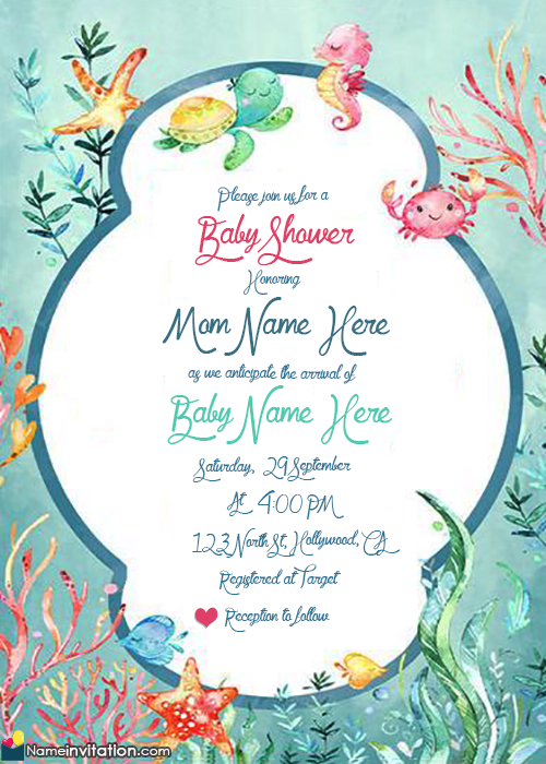 Baby Shower Invitations With Mom And Baby Name