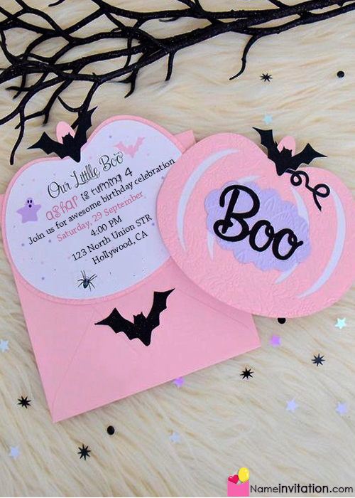 Beautiful Birthday Party Invitation Card With Name Edit