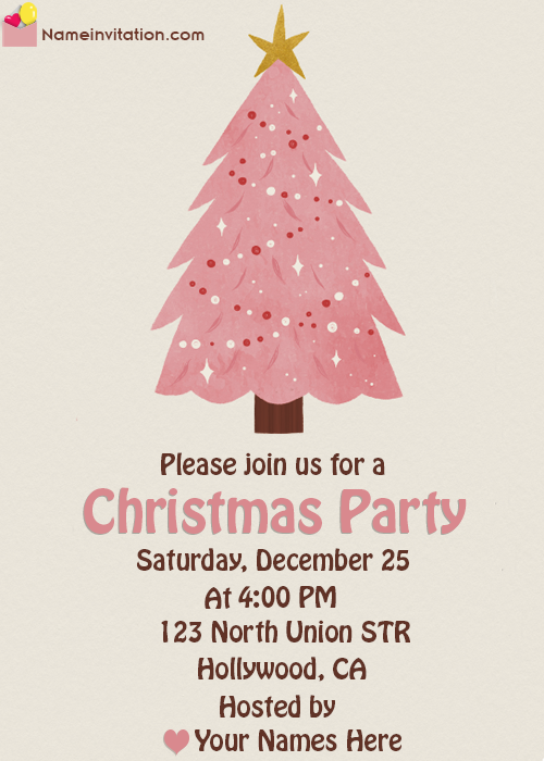 Beautiful Christmas Party Invitation Template Word Online