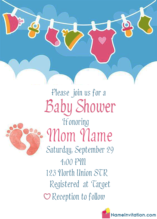 Beautiful Indian Baby Shower Invitation Card Online Free
