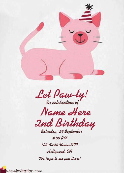 Create Birthday Invitation Card With Name Online Free