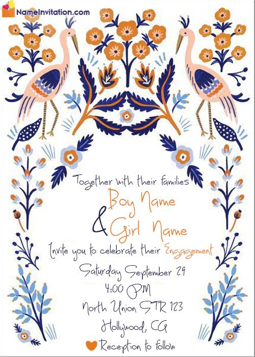 Editable Indian Engagement Invitation Card Maker Online Free