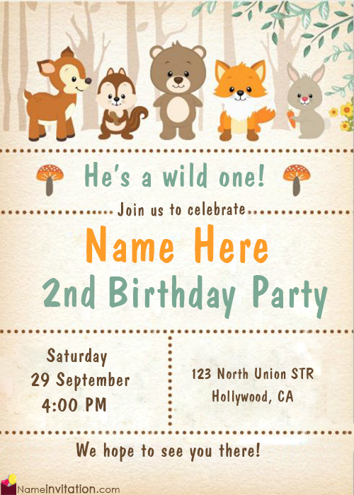 Free Download Best Birthday Invitations With Name Editing