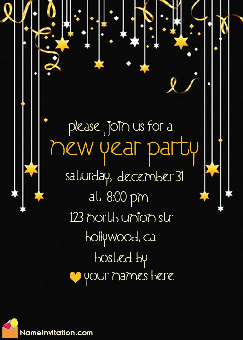 Happy New Year Party Invitation For Employees Online Free