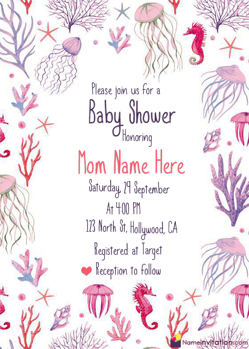 Indian Baby Shower Invitations Templates Editable With Name