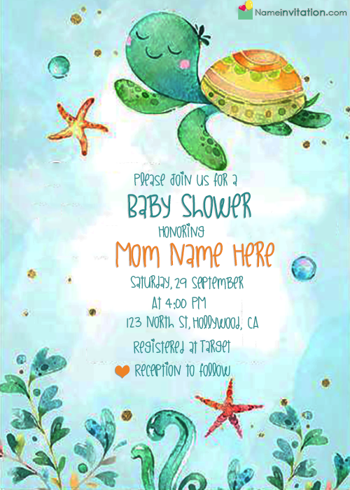 Make Your Own Baby Shower Invitations With Name