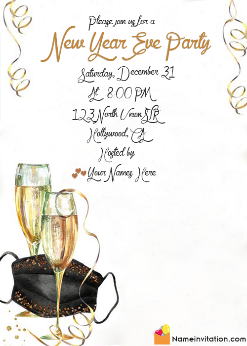New Years Eve Invitations Template Free Download With Name