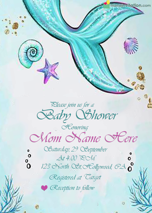 Online Baby Shower Invitations Free With Name Editor