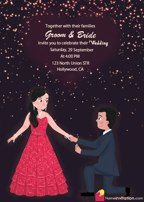 Online Marriage Invitation Card With Name Edit